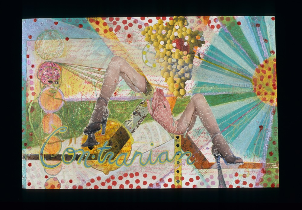 contrarian , 2004, Mixed media on paper, 10 x 15 inches. Private collection.
