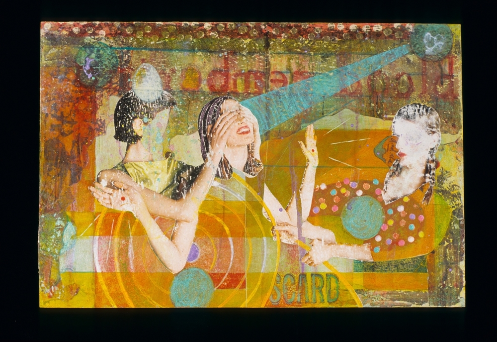 witness , 2004, Mixed media on paper, 10 x 15 inches. Collection Cameron Art Museum.