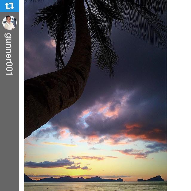 #Repost @gunner001 with @repostapp.・・・#elnido #helloelnido #wanderlust #sunset #palawan #philippines