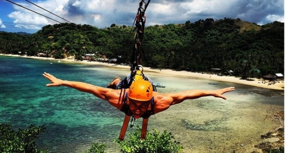 Ride a zipline at Las Cab - Take a tricycle to Las Cabanas, walk along the beach until you reach the zipline stall. 500P sit-down position and 700P superman position. The stall closes around 5:30PM.