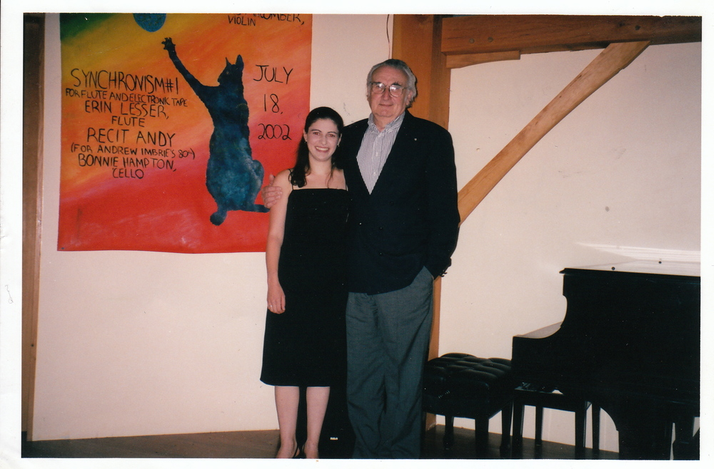 With Mario Davidovsky