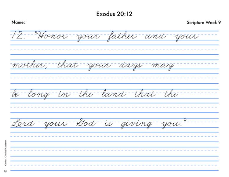 Cursive Handwriting Sheets: Select a Cycle — Claritas Publishing