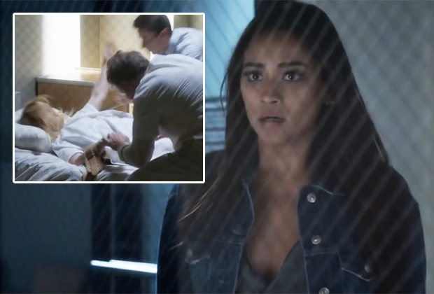 Emily watching in horror while doctors torture Ali.