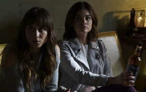 """Hey. Curb the perv or the bottle walks.""  Aria and Spencer visit Dr. Cochran to learn about Mary Drake's second baby."
