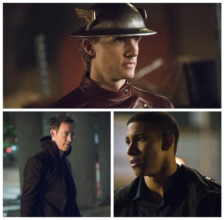 Jay Garrick (Fake), Harrison Wells (Earth 2), and Wally West