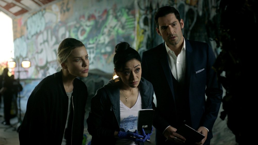 The team, including season three rookie Ella the medical examiner assess crime scene number  one