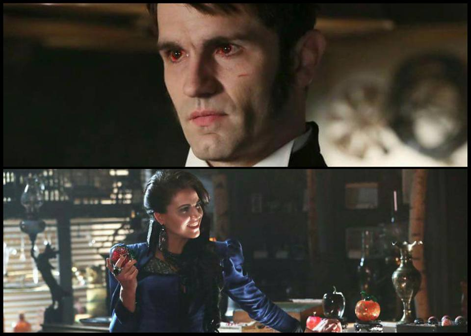 In Photo: Lana Parilla as The Evil Queen, Sam Witwer as Mr. Hyde.