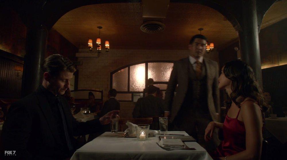 "Jim crashes Valerie's ""date."""