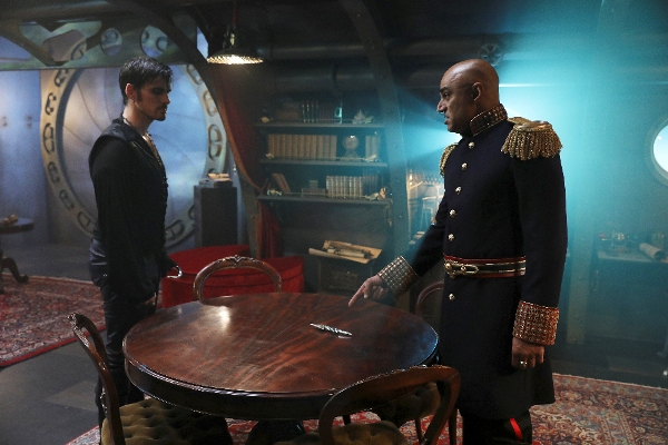 In Photo: Hook (Colin O'Donoghue, and Captain Nemo (Faran Tahir)