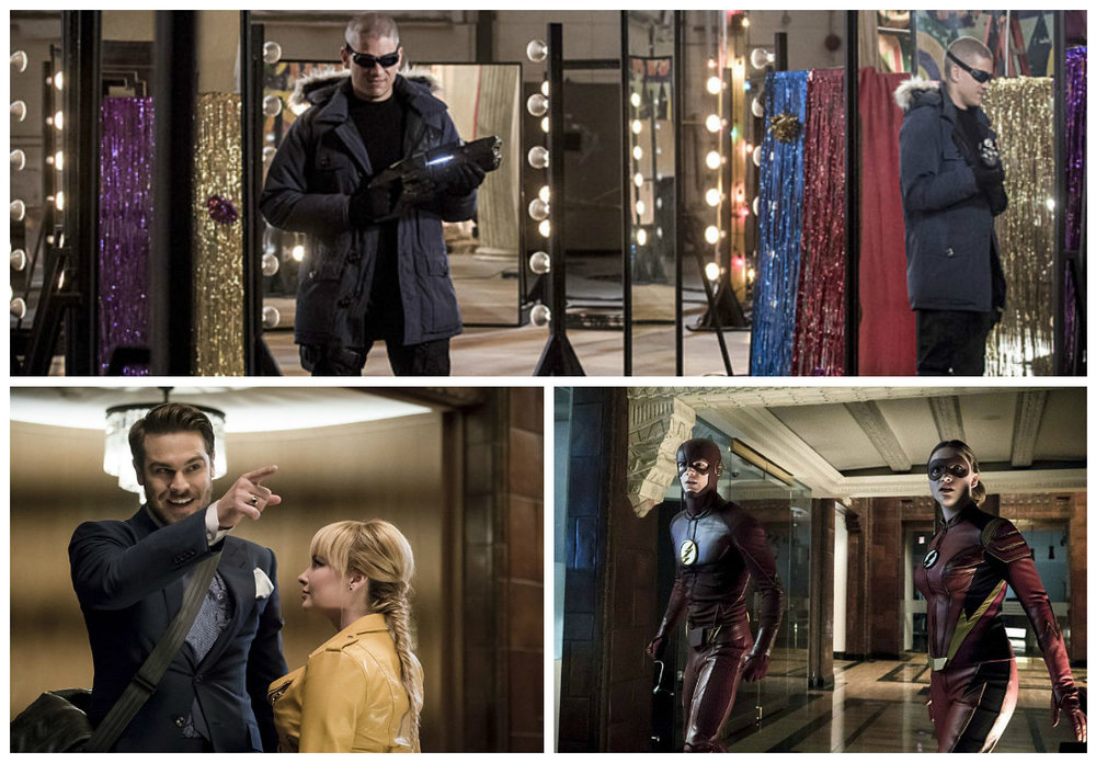 Top &Mirror Master (Bottom Left), Flash & Jesse Quick (Bottom Right), Captain Cold?? (T