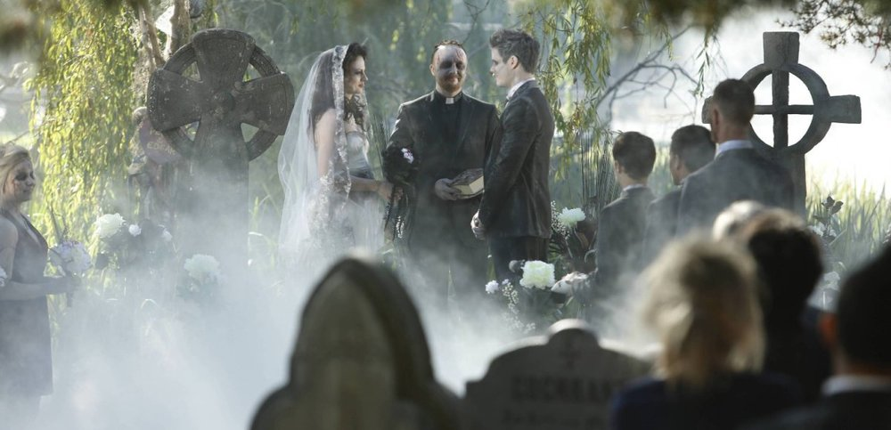 Halloween killer strikes at zombie wedding