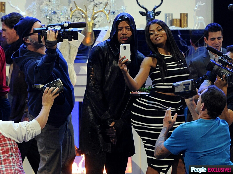 Terrance and Taraji skit of Kanye West and Kim Kardashian.