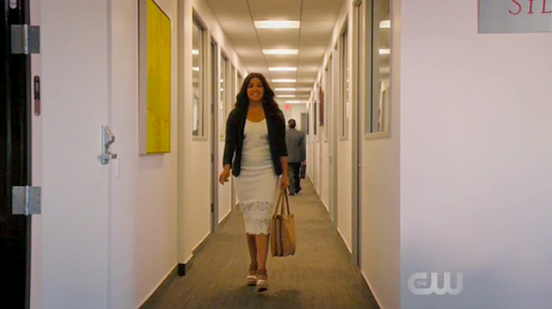 Jane on her way to her interview.