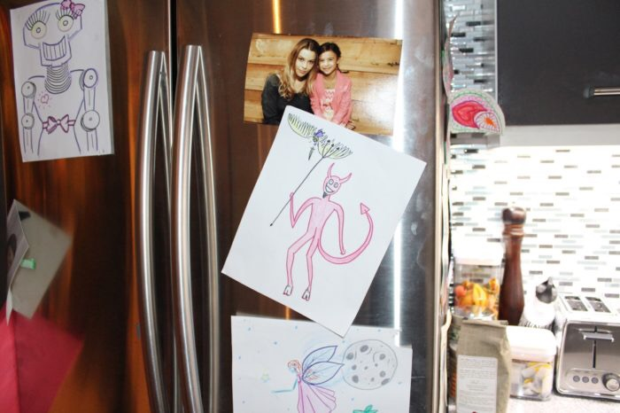 But first can we talk about this, though? Chloe's fridge is too cute!