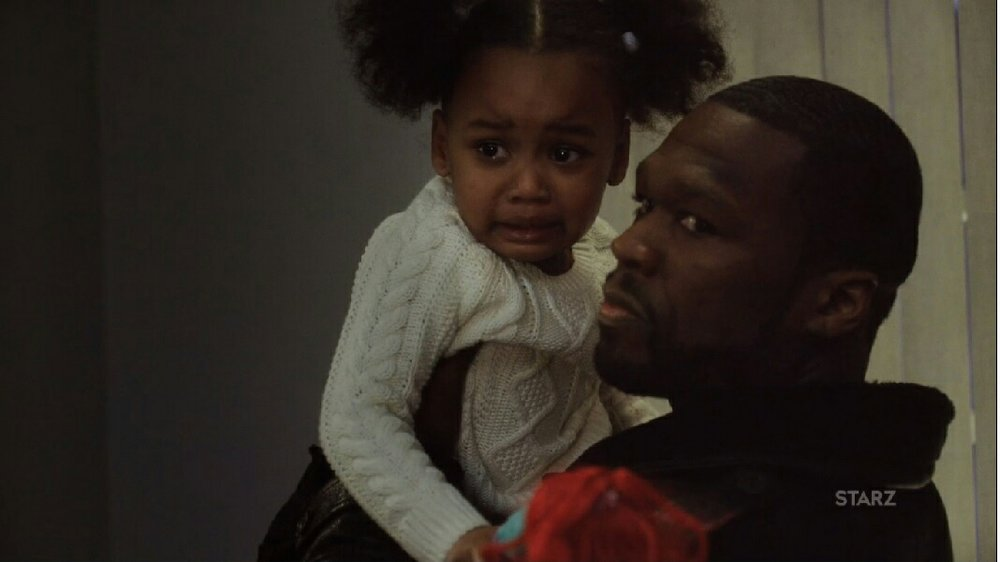 Kanan with Dre's daughter.