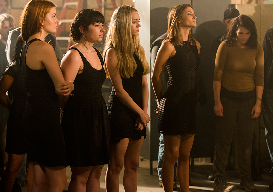 Negan's Wives in the black (from face burning scene)