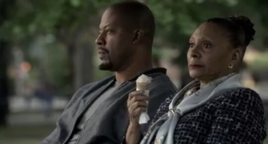 Mama Leah isn't seeming so crazy sitting there with Tariq eating ice cream.