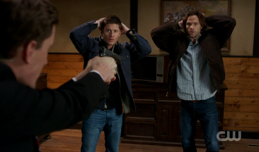 Sam and Dean get arrested.