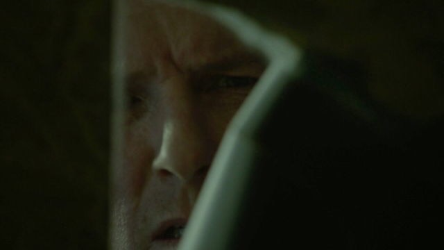 Sheriff Stilinski catching his first glimpse of Stiles' room