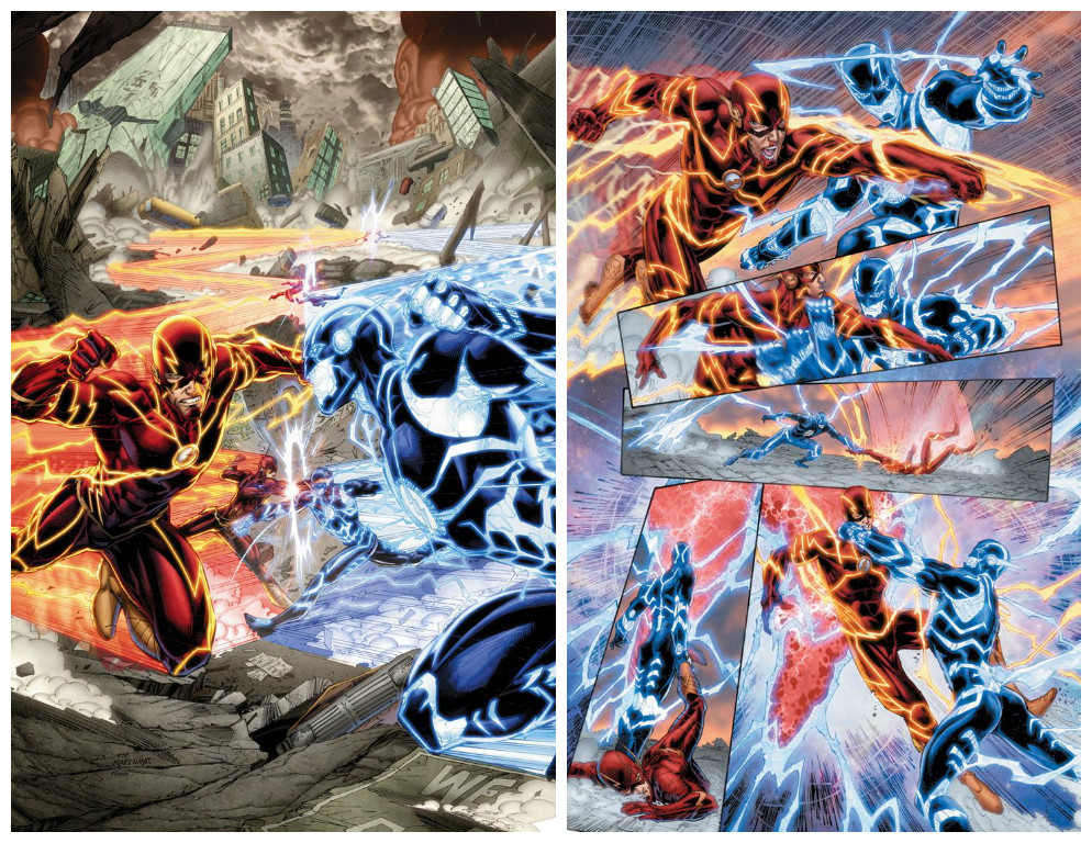 Flash VS. Future Flash from the comics