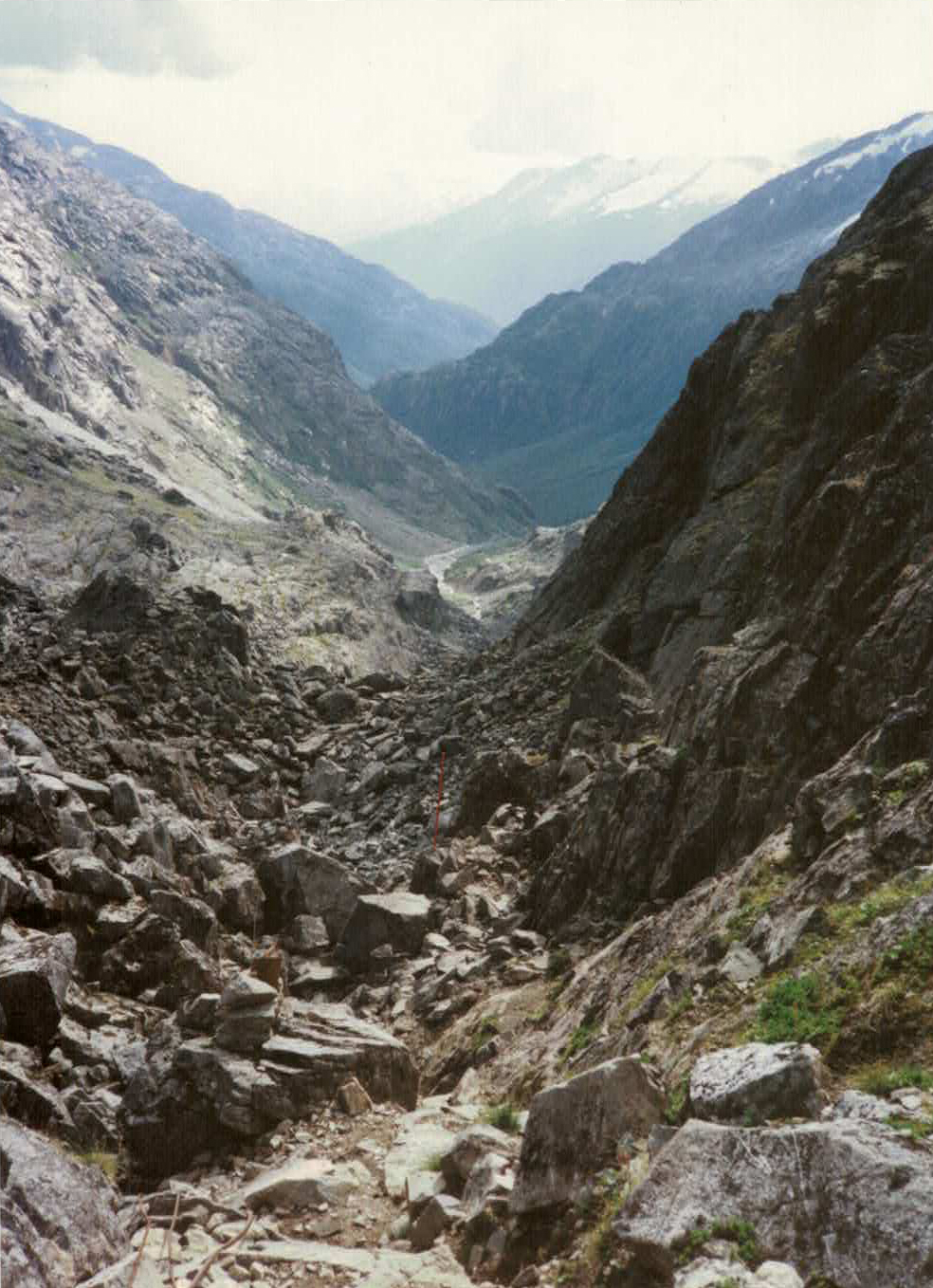 VIEW DOWN CHILKOOT PASS TRAIL