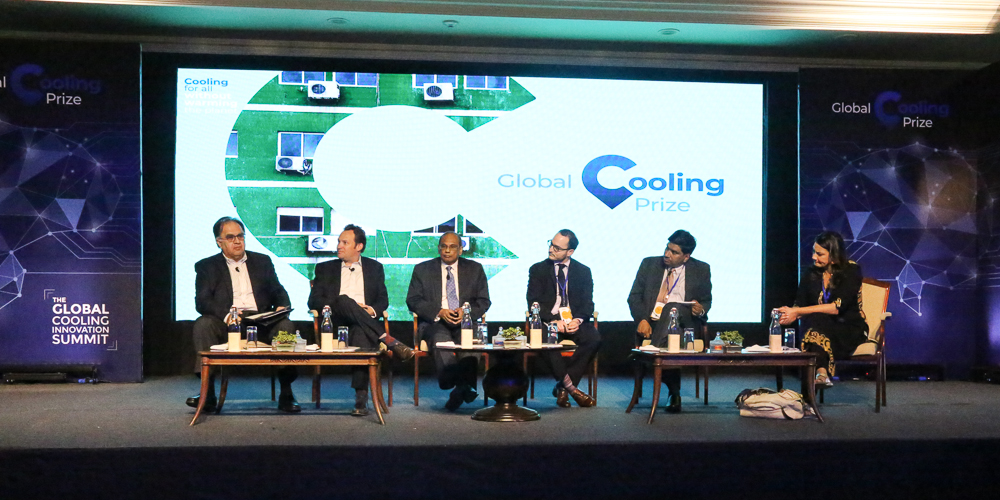 Dr. Paul Bunje participates in a high-level panel as part of The Global Cooling Prize launch. New Delhi, India (Nov. 12, 2018)