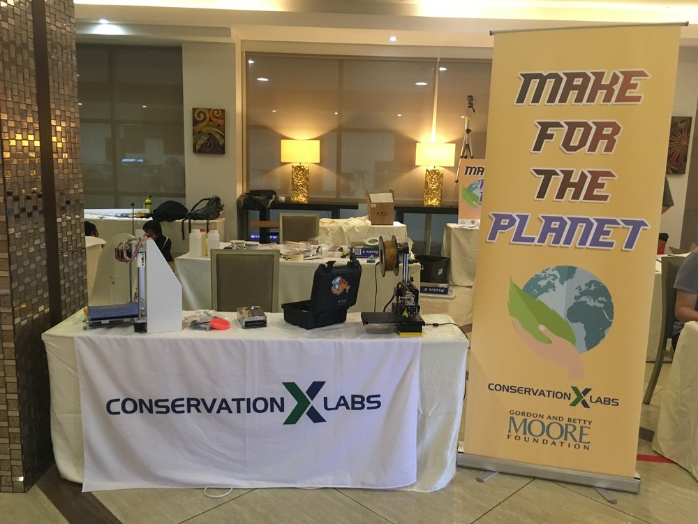The pop-up makerspace at Make for the Planet Borneo. 2018