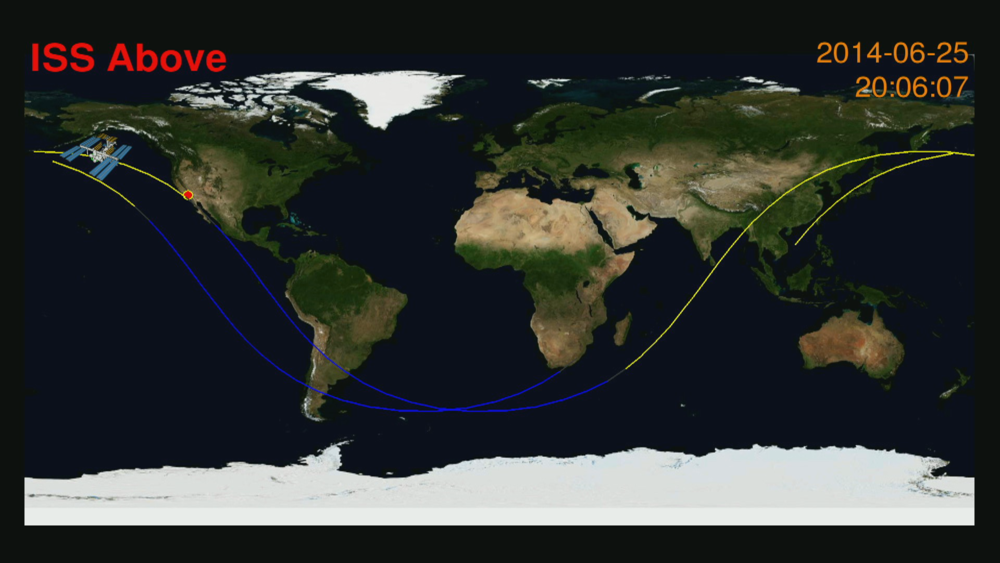 Find out where the International Space Station is...