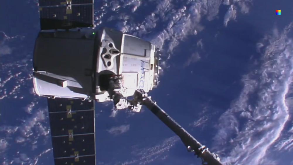 Down camera with SpaceX Dragon