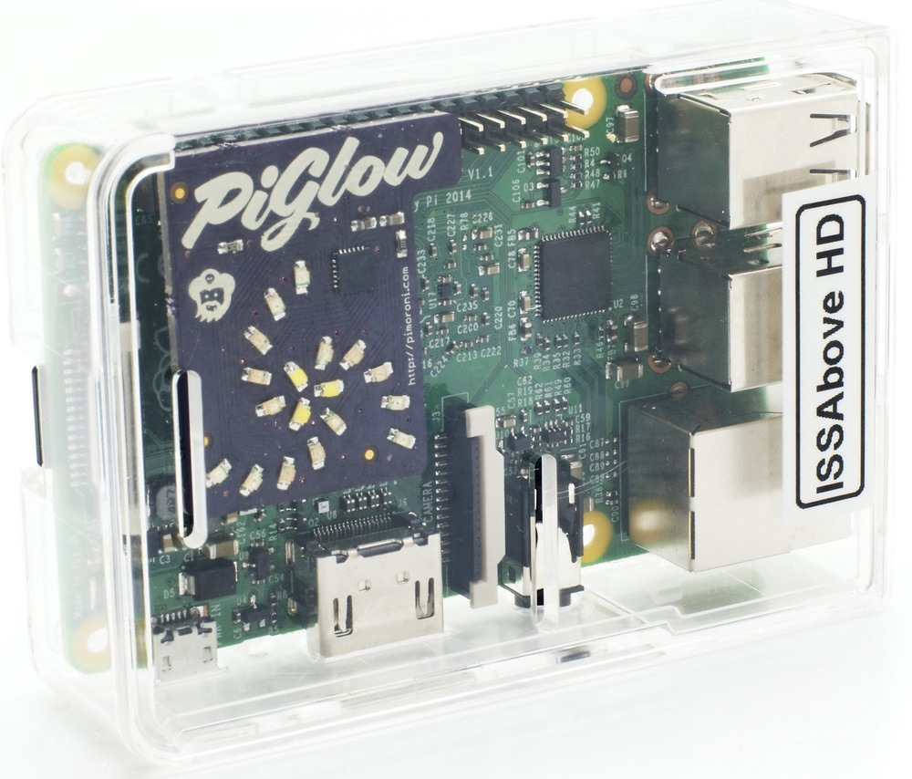 Based on the Raspberry Pi, the ISS-ABOVE program calculates where the Space Station is at all times and displays screens of information and live video from the ISS.
