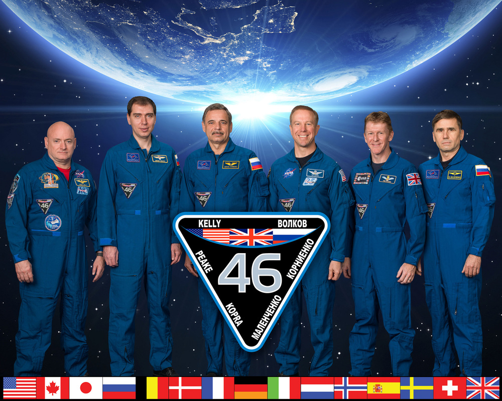 Official Expedition 46 Crew Portrait