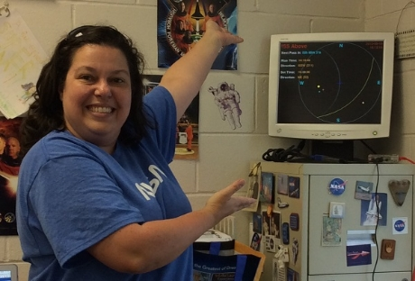 kim david, lee-scott academy with their iss-above