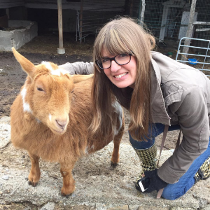 Me hanging out with Pumpkin at  Maple Farm Sanctuary  in Mendon, MA, where I volunteer helping animals rescued from... how do I say this... the people who want to eat them.