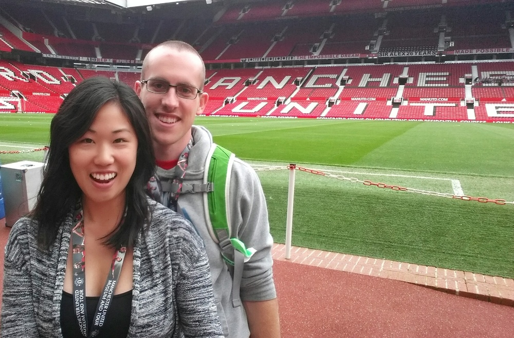 This is the closest we managed to get to the pitch on our stadium tour.
