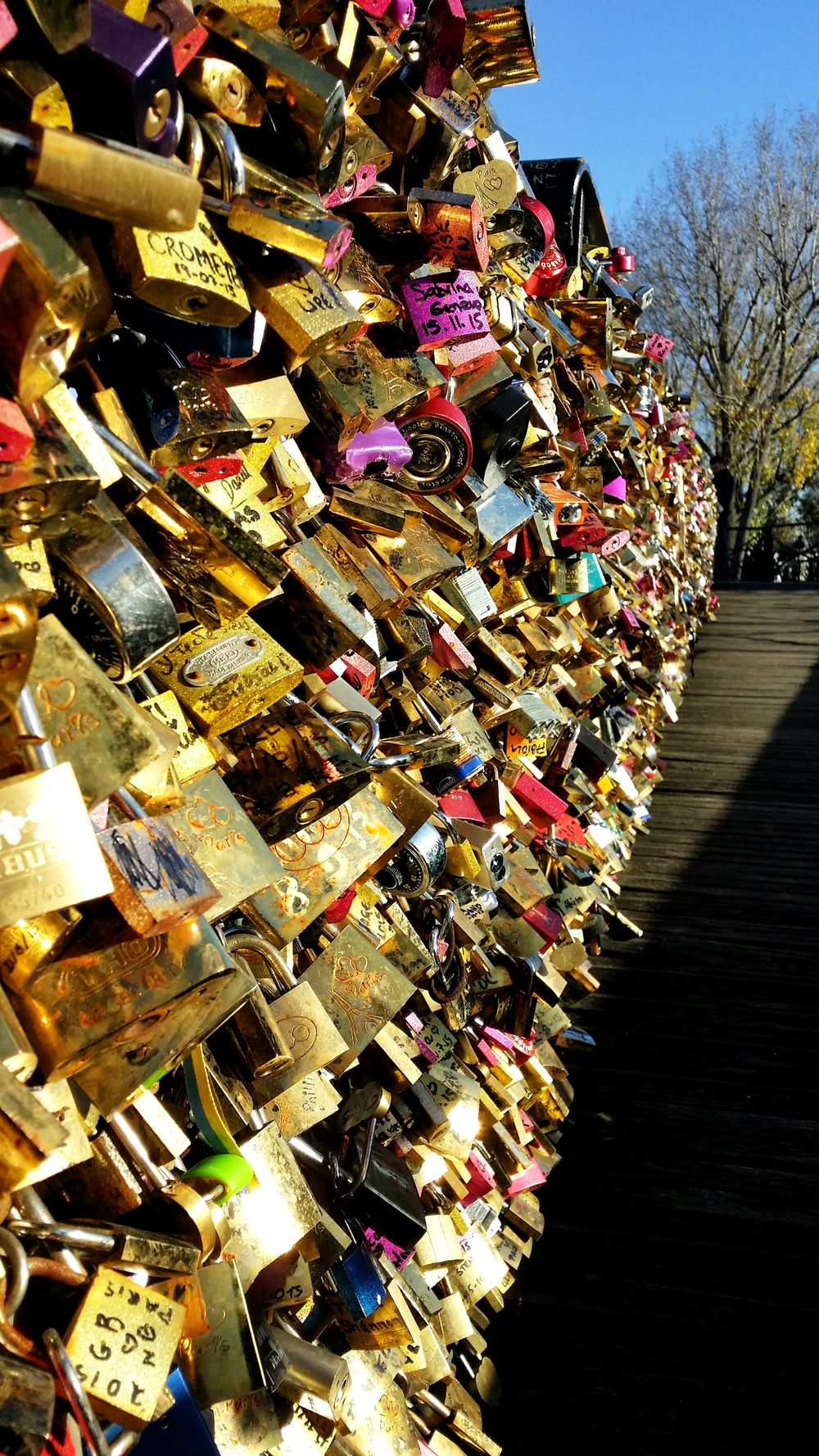 Pont des Arts, Paris: So much love.