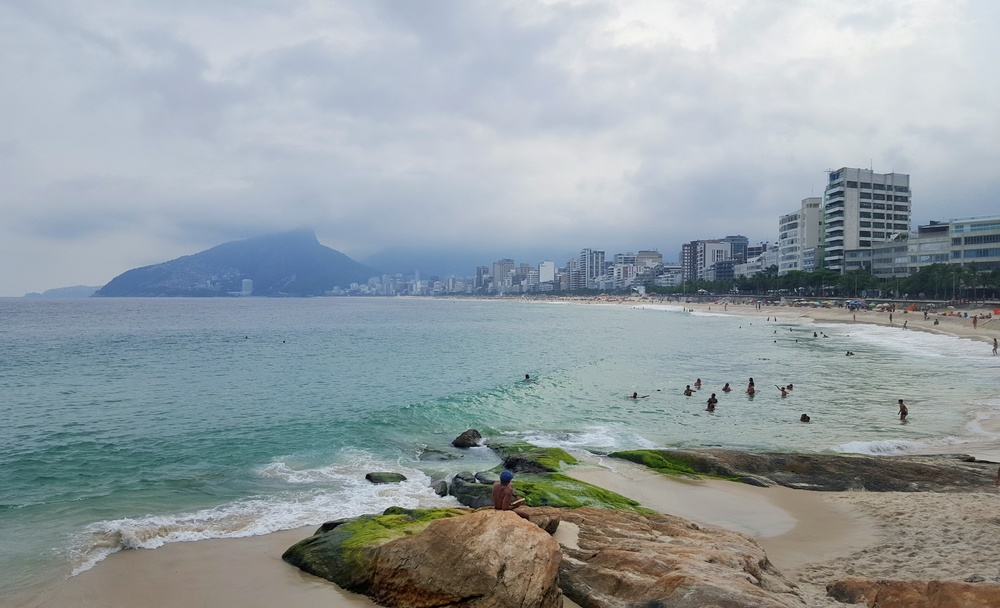 The view of Ipanema Beach from Arpoador Point