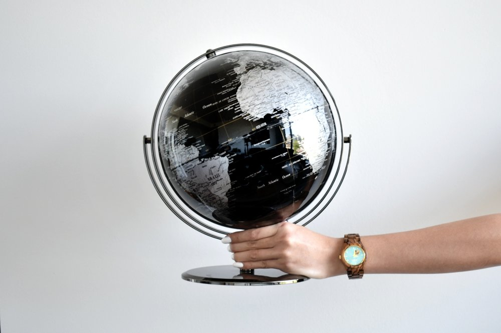 Globe and watch