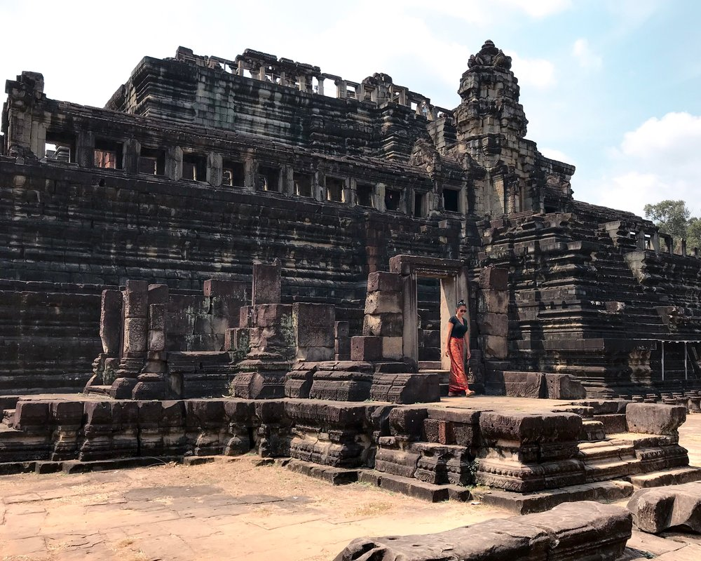 Bayon Temple at Angkor Archaeological Park in Cambodia