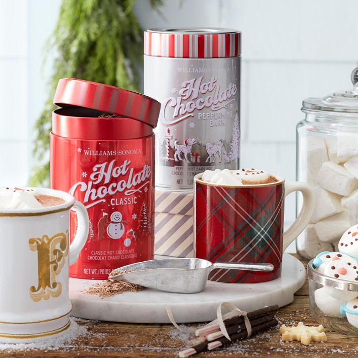 Here's another Christmas classic from Williams-Sonoma! Their hot chocolate mix is a cute and easy gift to pick up for your children's teacher or your neighbors. Make it a basket and add in a cute mug and specialty marshmallows, too! We love putting things like this into a pretty basket and wrapping it all in cellophane & big bow. They will think of you each time they have a mug of hot chocolate this holiday season!