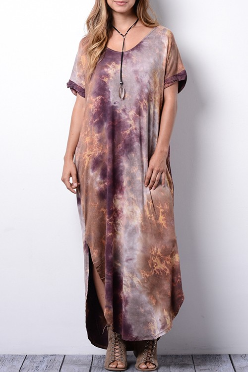 Great Galaxy Maxi Tie Dye Dress/Pockets