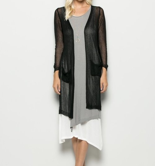 Lightweight Mesh Cardigan