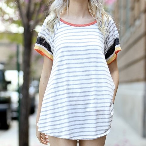 Clear As Day Stripe Top