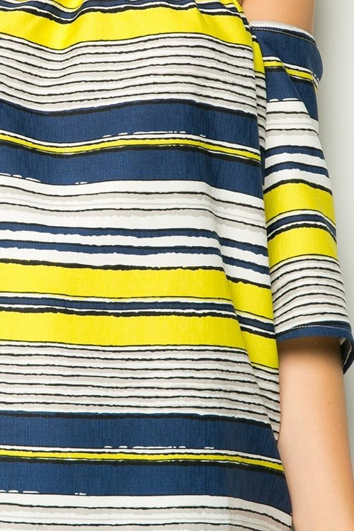 Classic stripes but off the shoulder top!