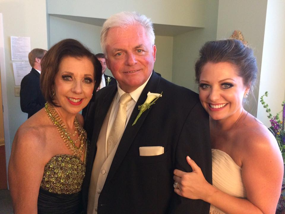 Mary Lynn, Mark and Lindsay (parents and sister to the groom)....Wedding Night!