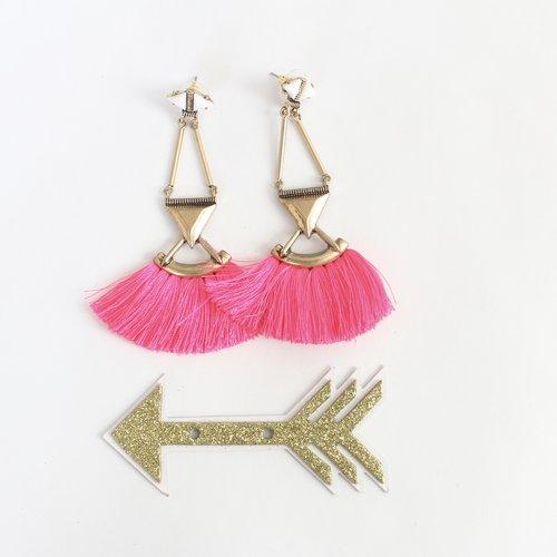 Fiesta Hot Pink Earrings $24