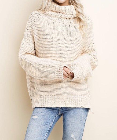 Cream Turtleneck Sweater — Sidney Clark Designs