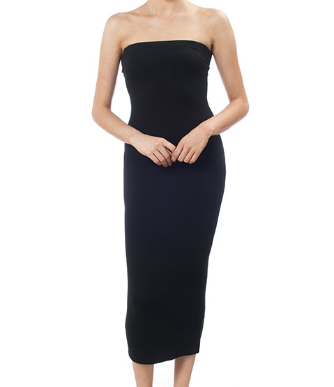 Strapless Body Con Layering Dress