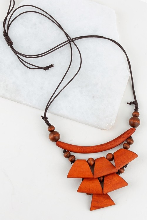 Mustique Wooden Necklace