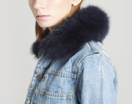 Removable fur collar