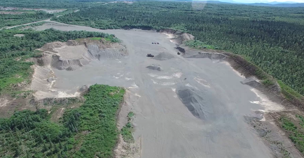 BBNC's south gravel pit at King Salmon, Alaska. Over 20 acres of features captured in 25 minutes.